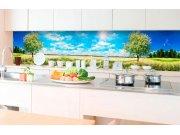 Samoljepljiva foto tapeta za kuhinje - Stablo na livadi KI-350-085 | 350x60 cm Foto tapete