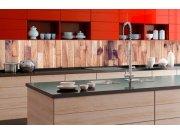 Samoljepljiva foto tapeta za kuhinje - Drveni zid KI-350-086 | 350x60 cm Foto tapete