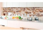 Samoljepljiva foto tapeta za kuhinje - Kameni zid KI-350-088 | 350x60 cm Foto tapete