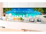 Samoljepljiva foto tapeta za kuhinje - Plaža v rajv KI-350-091 | 350x60 cm Foto tapete