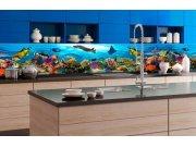 Samoljepljiva foto tapeta za kuhinje - Ribe v oceanv KI-350-092 | 350x60 cm Foto tapete