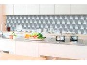 Samoljepljiva foto tapeta za kuhinje - Zid 3D kocke KI-350-096 | 350x60 cm Foto tapete
