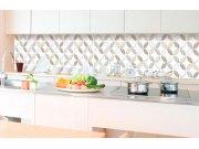 Samoljepljiva foto tapeta za kuhinje - Smeđe latice KI-350-099 | 350x60 cm Foto tapete
