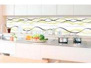 Samoljepljiva foto tapeta za kuhinje - Žvti valovi KI-350-100 | 350x60 cm Foto tapete