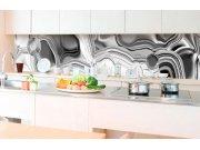 Samoljepljiva foto tapeta za kuhinje - Tekvći krom srebrni KI-350-101 | 350x60 cm Foto tapete