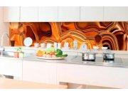 Samoljepljiva foto tapeta za kuhinje - Tekvća kromirana bronca KI-350-102 | 350x60 cm Foto tapete
