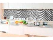 Samoljepljiva foto tapeta za kuhinje - Srebrni valovi KI-350-103 | 350x60 cm Foto tapete