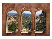 Flis fototapeta Urezani prozor MS50049 | 375x250 cm Foto tapete