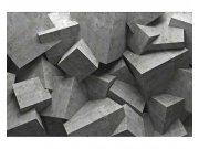 Flis fototapeta 3D betonski kvadrati MS50176 | 375x250 cm Foto tapete