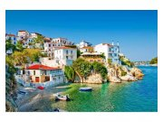 Flis foto tapeta Grčka obala MS50197 | 375x250 cm Foto tapete