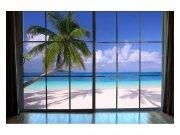 Flis foto tapeta Plaža iza prozora MS50203 | 375x250 cm Foto tapete