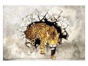 Flis foto tapeta Pantera na lovu MS50233 | 375x250 cm Foto tapete