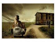 Flis foto tapeta Djevojka v fotelji MS50258 | 375x250 cm Foto tapete