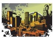 Flis foto tapeta Nacrtani grad| MS-5-0325 | 375x250 cm Foto tapete