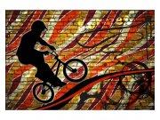 Flis foto tapeta Crveni bicikl MS50327 | 375x250 cm Foto tapete