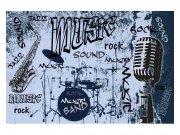 Flis foto tapeta Plava glazba MS50329 | 375x250 cm Foto tapete