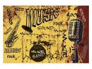 Flis foto tapeta Žuta glazba MS50330 | 375x250 cm Foto tapete