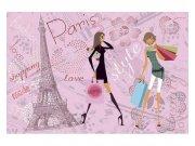 Flis fototapeta Pariški stil MS50331 | 375x250 cm Foto tapete