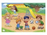 Flis foto tapeta Djeca na igralištu MS50339 | 375x250 cm Foto tapete