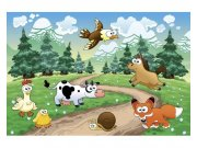 Flis fototapeta Životinje u šumi MS50340 | 375x250 cm Foto tapete