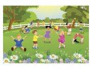 Flis fototapeta Djeca na dvorištu MS50343 | 375x250 cm Foto tapete