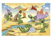 Flis fototapeta Krokodili MS50344 | 375x250 cm Foto tapete