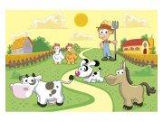 Flis fototapeta Životinje iz farme MS50334 | 375x250 cm Foto tapete