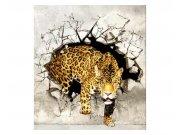 Flis foto tapeta Pantera na lovu MS30233 | 225x250 cm Foto tapete