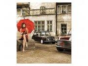 Flis foto tapeta Dama v crvenom MS30257 | 225x250 cm Foto tapete