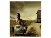 Flis foto tapeta Djevojka v fotelji MS30258 | 225x250 cm Foto tapete