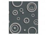 Flis fototapeta 3D metalni krugovi MS30302 | 225x250 cm Foto tapete