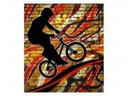 Flis foto tapeta Crveni bicikl MS30327 | 225x250 cm Foto tapete