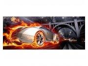 Panoramska flis fototapeta Auto v plamenu MP20314 | 375 x 150 cm Foto tapete