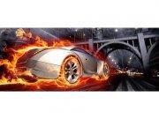 Panoramska flis foto tapeta Auto v plamenu MP20314 | 375 x 150 cm Foto tapete