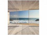 Flis foto tapeta Prozor na plažu MS30042   225x250 cm Foto tapete