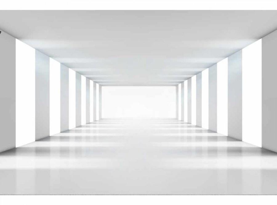 Flis foto tapeta 3D bijeli hodnik MS50036 | 375x250 cm - Foto tapete