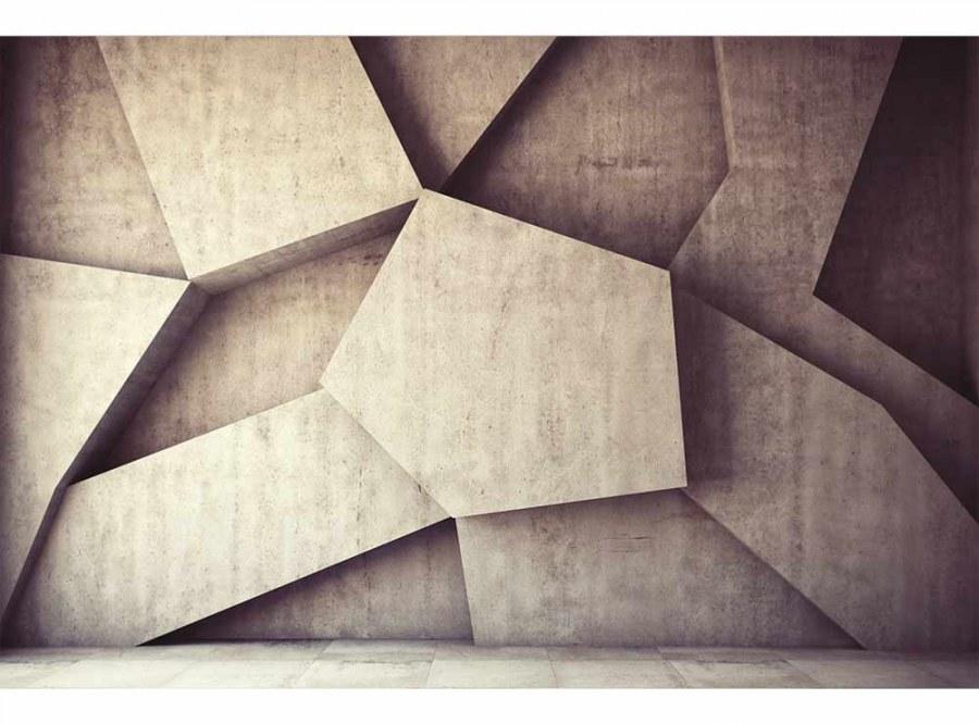 Flis foto tapeta 3D betonska pozadina MS50037 | 375x250 cm - Foto tapete