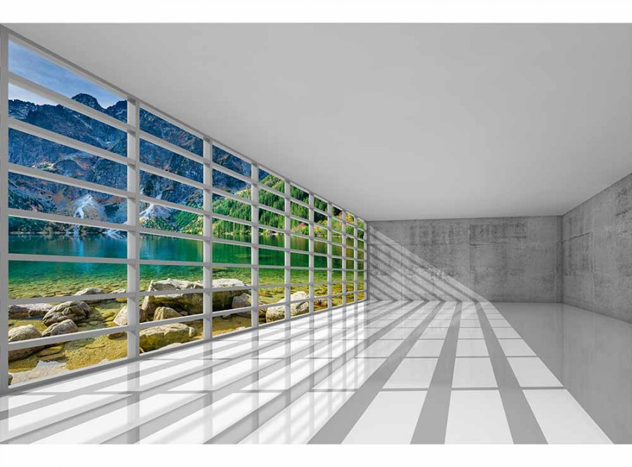 Flis foto tapeta Interijer sa pogledom MS50039 | 375x250 cm - Foto tapete