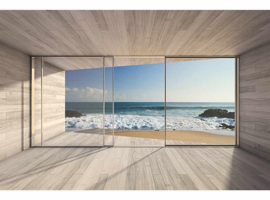 Flis foto tapeta Prozor na plažu MS50042 | 375x250 cm - Foto tapete