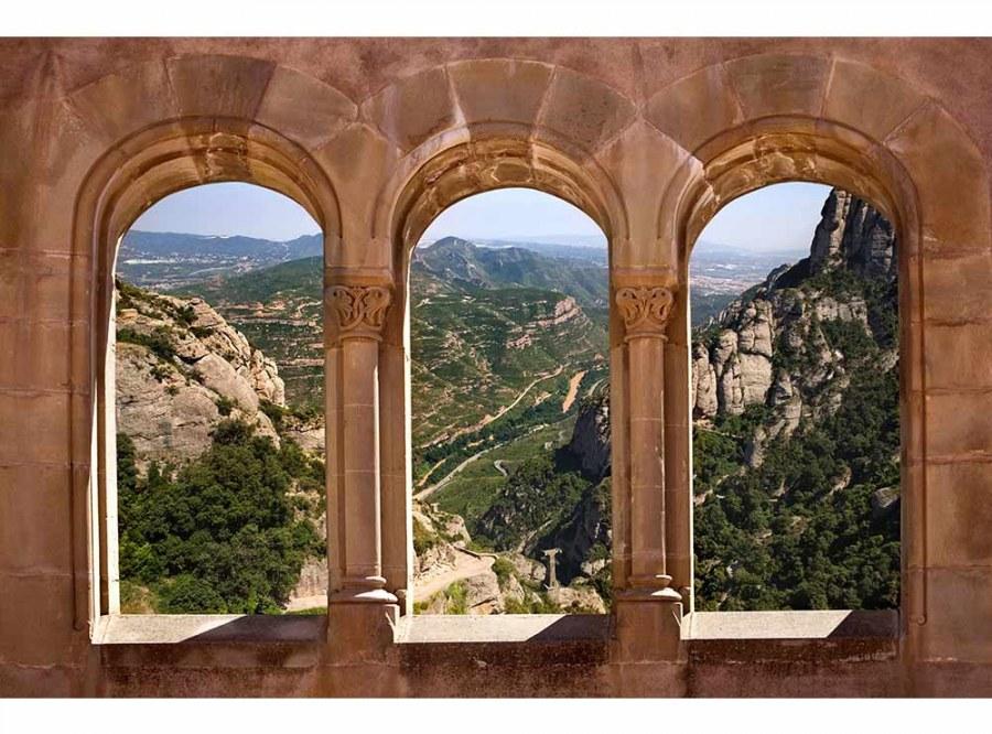 Flis foto tapeta Urezani prozor MS50049 | 375x250 cm - Foto tapete