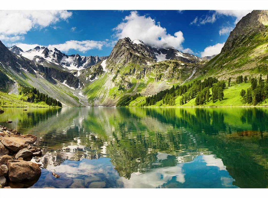 Flis foto tapeta Jezero MS50062 | 375x250 cm - Foto tapete