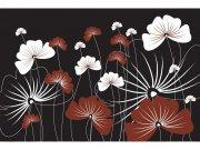 Flis foto tapeta Cvijeće na crnoj pozadini MS50156 | 375x250 cm Foto tapete