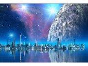 Flis foto tapeta Futuristički grad MS50186 | 375x250 cm Foto tapete