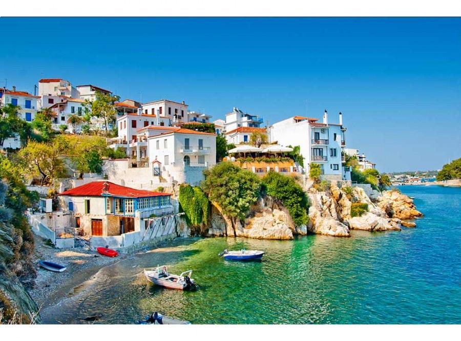 Flis foto tapeta Grčka obala MS50197 | 375x250 cm - Foto tapete
