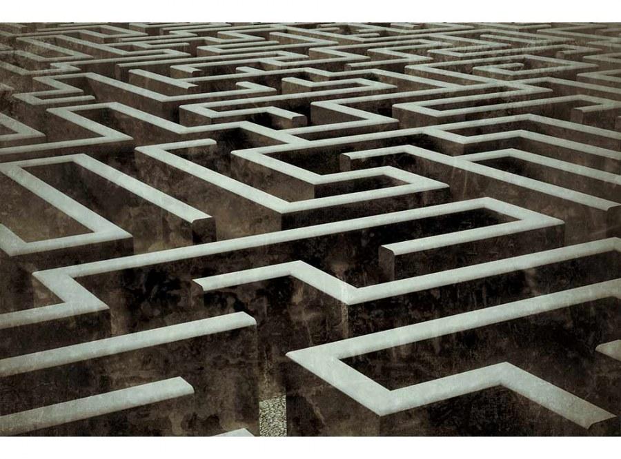 Flis foto tapeta 3D labyrint MS50279 | 375x250 cm - Foto tapete