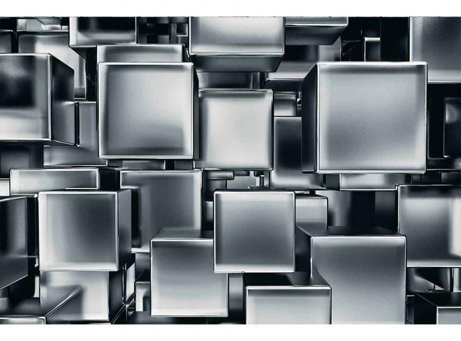 Flis foto tapeta 3D metalne kockice MS50285 | 375x250 cm - Foto tapete