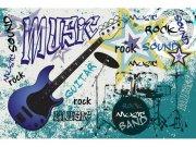 Flis foto tapeta Plava gitara MS50323 | 375x250 cm Foto tapete