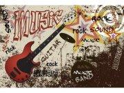 Flis foto tapeta Crvena gitara MS50324 | 375x250 cm Foto tapete