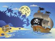 Flis foto tapeta Gusarski brod| MS50335 | 375x250 cm Foto tapete