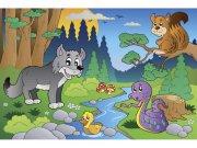 Flis foto tapeta Životinje u šumi MS50336 | 375x250 cm Foto tapete